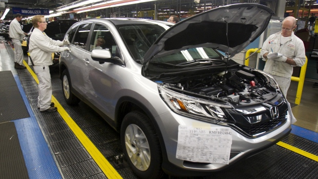 CR-V rolls down the line in Alliston